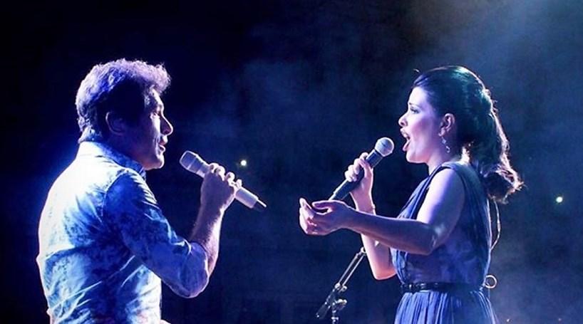 Daniel com Nádia Figueiredo no Coliseu